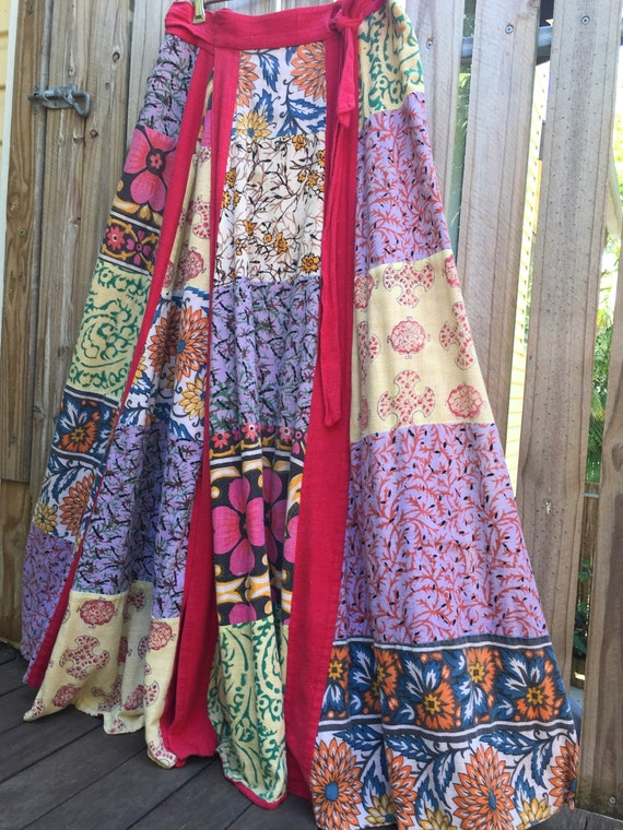 Vintage 70's Indian gauze skirt