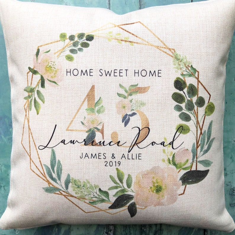 Personalised Home Sweet Home Floral Design New Home Quote image 0