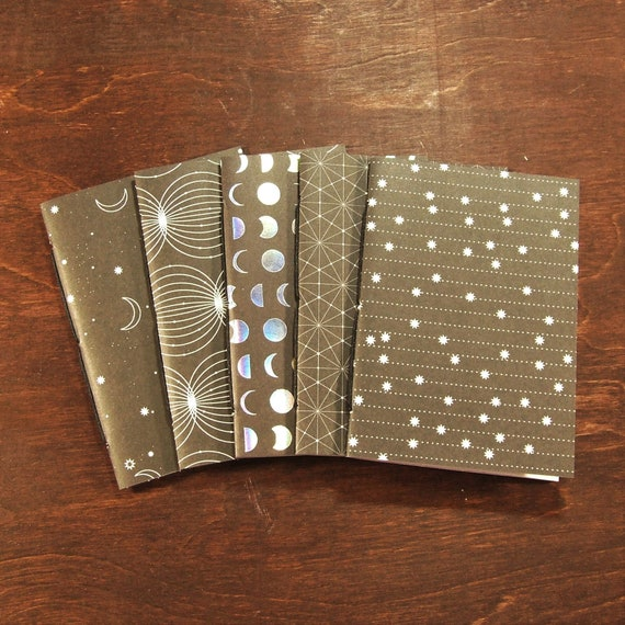 B7 B6 Personal Standard Cahier or A5 Size B6 Slim Pocket Space Travelers Notebook Insert Set in Passport A6