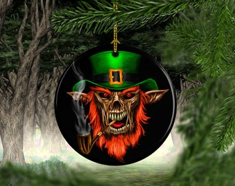 porcelain creepy leprechaun halloween tree ornaments halloween decorations halloween decor halloween gifts unique christmas gifts - Halloween Christmas Decorations