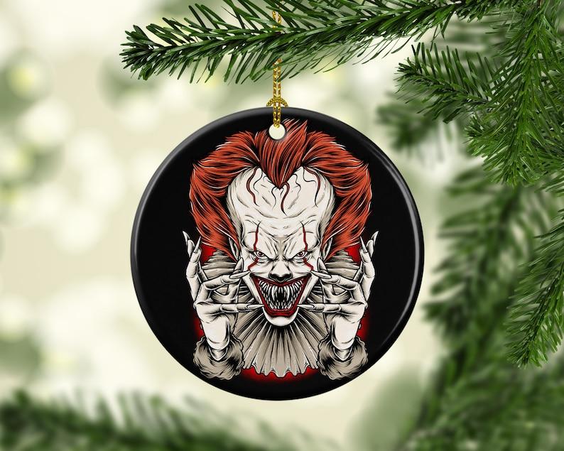 Halloween Tree Porcelain Ornaments Creepy It Clown Halloween image 0