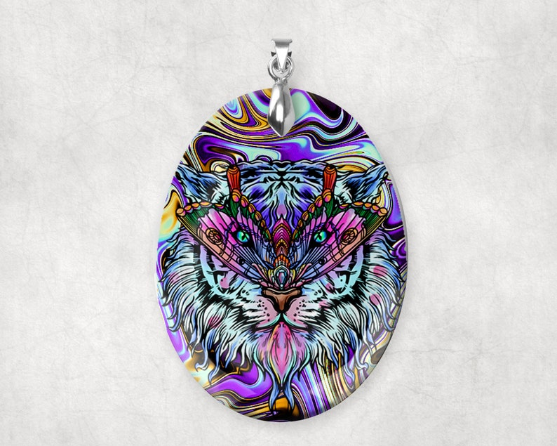 Crystal Glass Tiger Moth Large Pendant Charm Alternative image 0