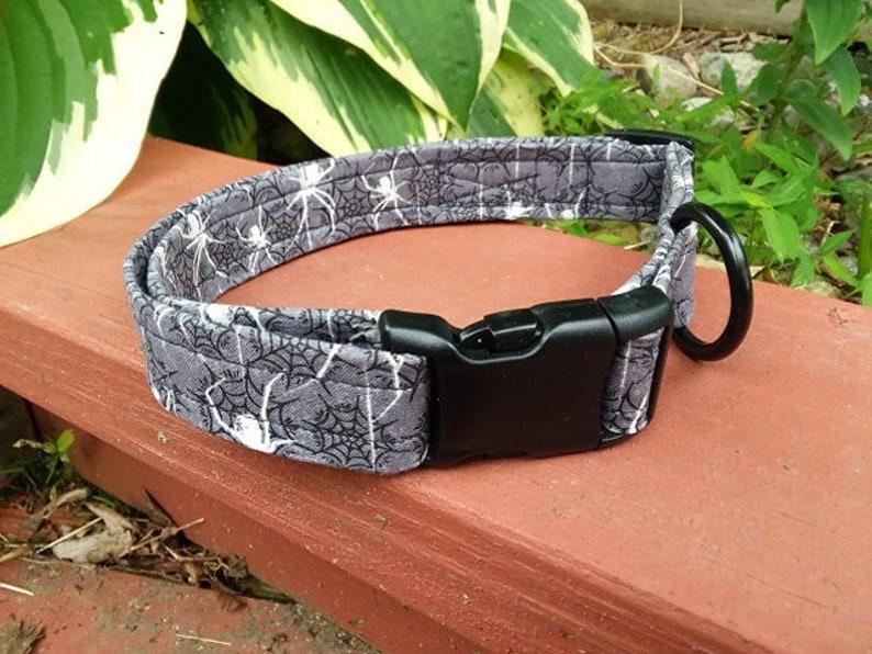 Halloween Spider Dog Collars Adjustable Fabric Pet image 0