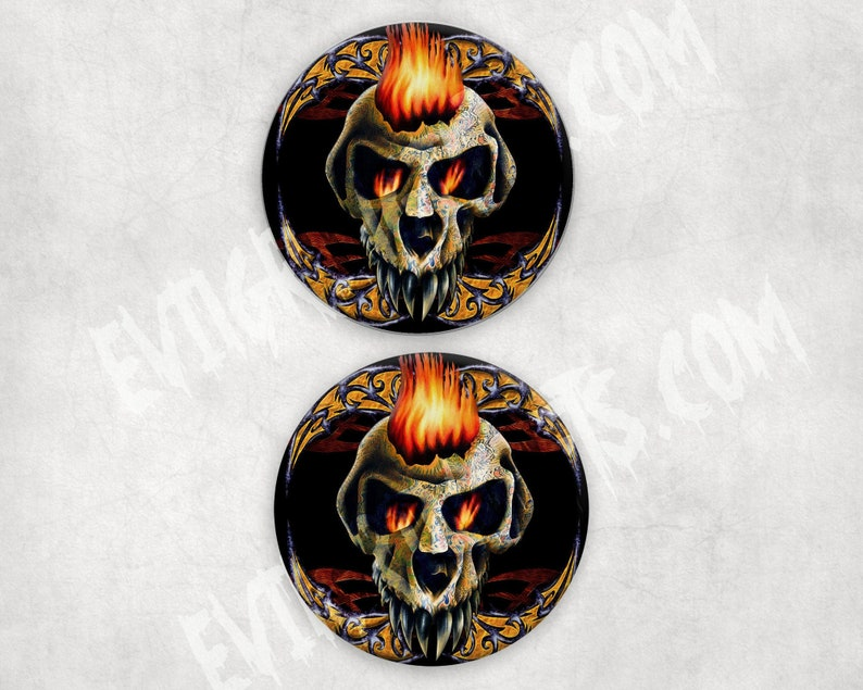 Drink Candle Coasters Tattoo Skull Coasters Absorbent image 0