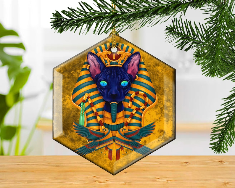 Ancient Gods Decorative Glass Christmas Ornament Guardians of image 0