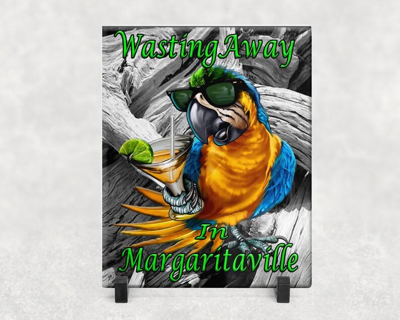 Beach Life Margaritaville Printed Glass Sign Custom Glass image 0