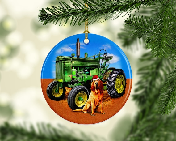 Farm Tractor Porcelain Custom Christmas Tree Ornament Unique Etsy