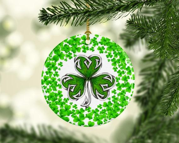 Irish Christmas.Irish Christmas Ornament Celtic Tattoo Shamrock Custom Christmas Tree Ornament Irish Celtic Style Keepsake Gifts Home Decor