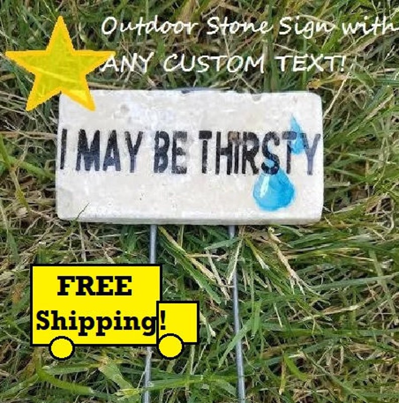 Custom Garden Gift Custom Outdoor Signs Personalized Outdoor Signs Custom Stone Signs Garden Stakes Garden Markers Garden Signs Plant Marker