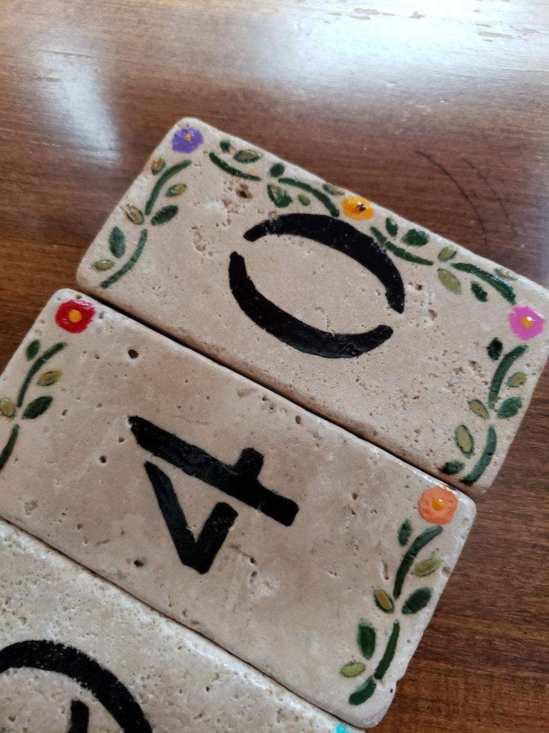 Stone Address Numbers Custom Address Sign Custom Sign Decorative Border Stone Address Sign Address Plaque Rustic Address Numbers 2x4 4x4 3x6