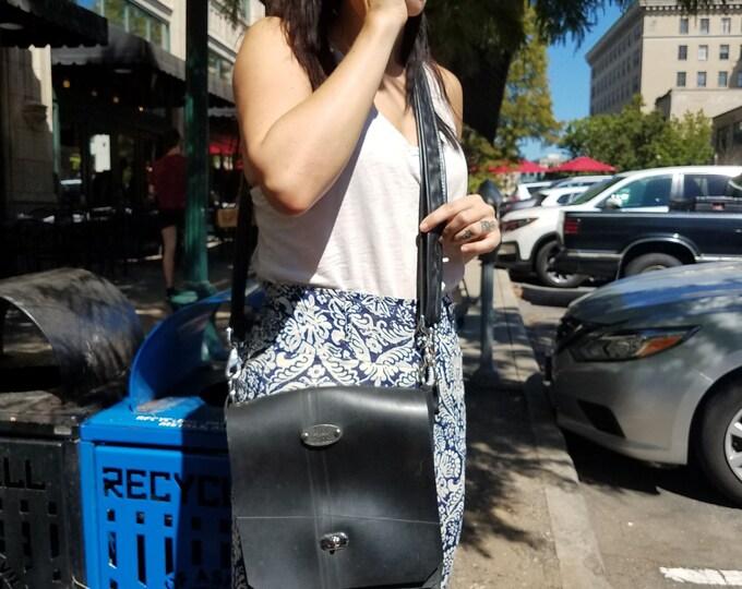 Featured listing image: Handmade Up-cycled Inner Tube Cross Body Messenger Bag