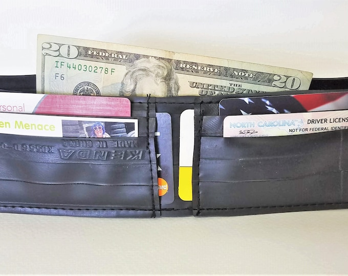 Featured listing image: Up-cycled Inner Tube Vegan Bi-fold Wallet
