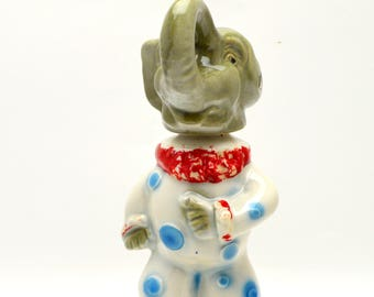 Vintage Jim Beam Whisky Decanter, Ceramic Republican Elephant, Man Cave, Genuine Regal China, 1968