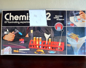 Vintage Thomas Salter Science Chemistry 2, Vintage Educational Toy, Chemistry Set, AS IS, circa 1970s