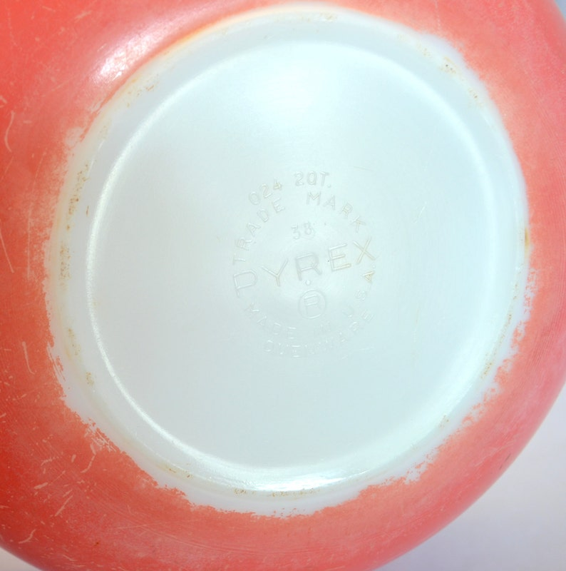 1950s Pyrex 024 2 Quart Bowl Vintage Pink Flamingo Pyrex Round Casserole