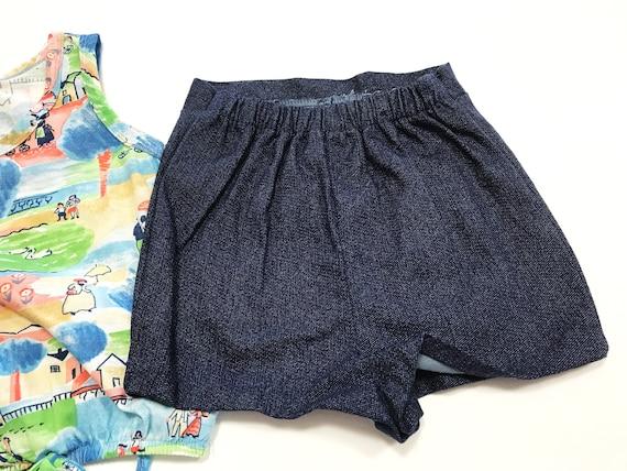 Vintage Girl's Shorts and Top Set, Summer Print K… - image 6