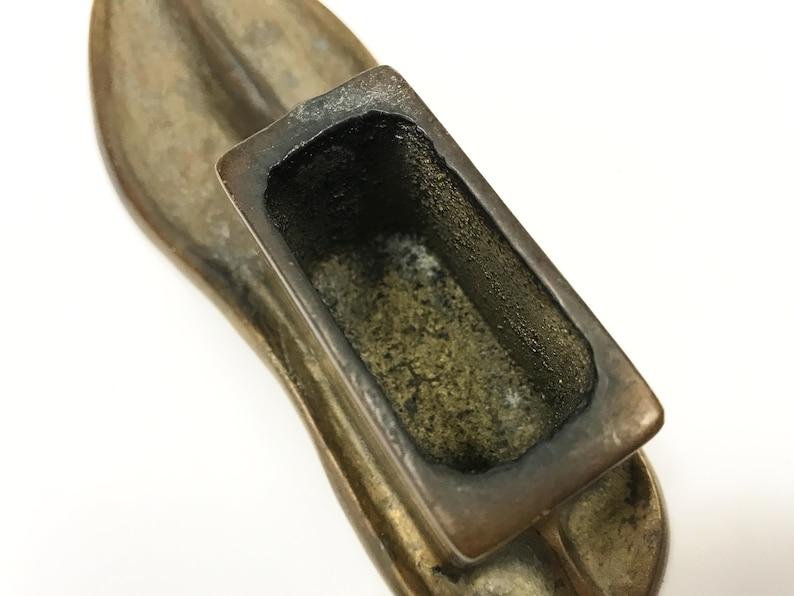 circa early 20th century Metal Cobbler/'s Mold Vintage Child/'s Shoe Last