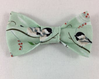 Chickadee Cat Bow tie, Bird Cat Bow tie, Cat tie, Cat Bow tie collar, Bow ties for Cats