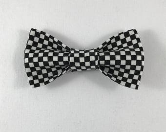 Black and White Checkered Cat Bow tie, Cat tie, Cat Bow tie collar-- ONLY ONE AVAILABLE