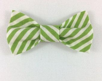 Green Striped Cat Bow tie, Cat tie, Cat Bow tie collar