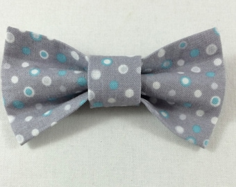Gray Dotted Cat Bow tie, Cat tie, Cat Bow tie collar--LAST 3 AVAILABLE