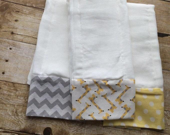 Baby Burp Cloths - Set of 3