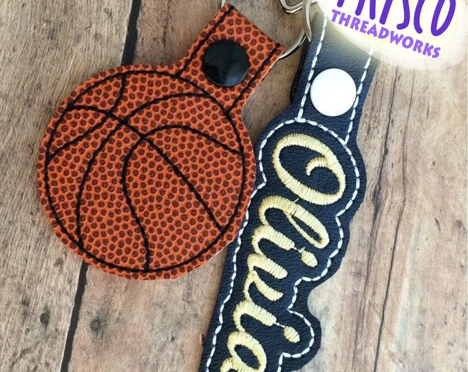 Basketball and Name Bag Tag Set