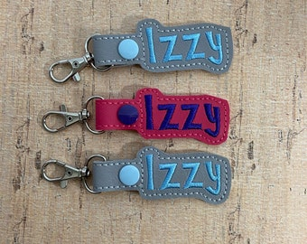"""50% OFF SALE - """"Izzy"""" Names Bag Tag for Backpack Luggage - Ready Made - Ready to Ship"""