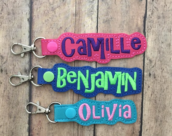 Set of 20: Custom Name Snap Bag Luggage Tags - SPECIAL PRICING