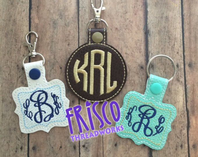 Name Tag for Backpack, Personalized Luggage Tag, Key Chain Fob, Lanyard, ID, Zipper Pull, Monogrammed Charms, Snap Tab