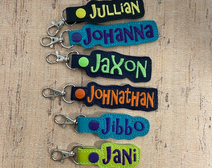 "50% OFF SALE - ""J"" Names Bag Tag for Backpack Luggage - Ready Made - Ready to Ship"