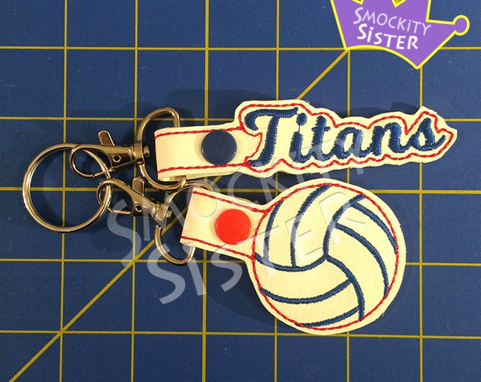 Volleyball Bag Tag / Zipper Pull name set