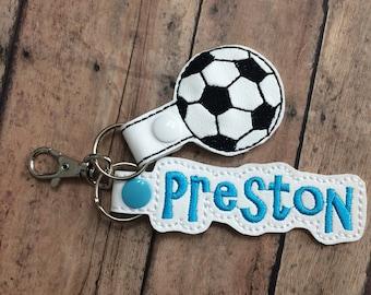 Soccer Ball and Name Bag Tag Set