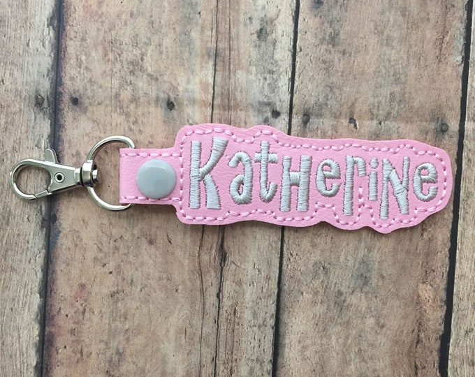 Light Pink Name Tag for Backpack