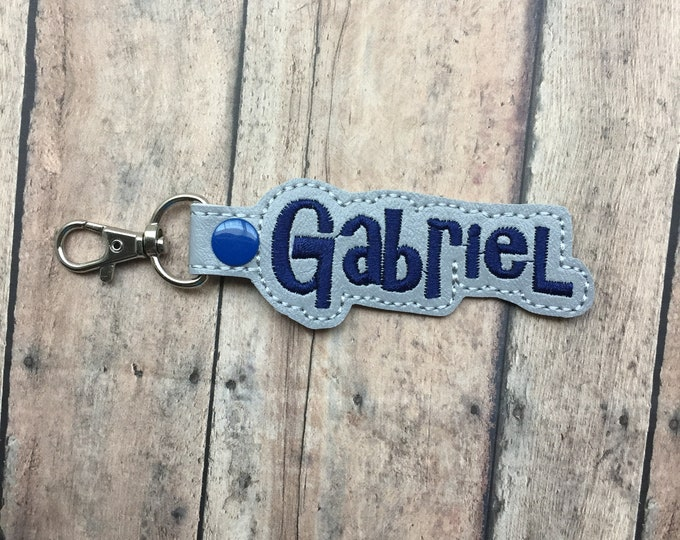 Gray Name Tag for Backpack