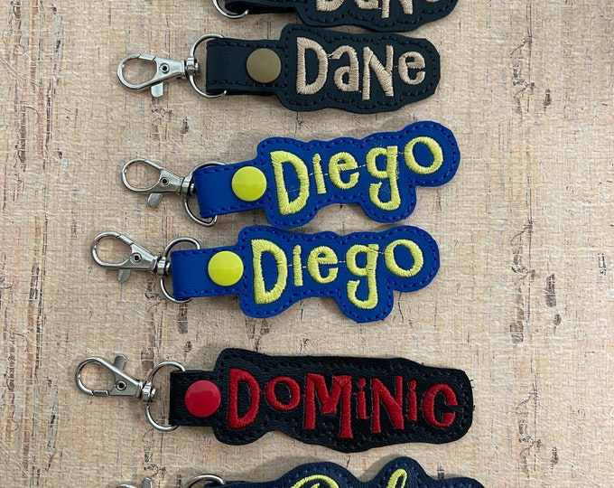"""50% OFF SALE - """"D"""" Names - Bag Tag for Backpack Luggage - Ready Made - Ready to Ship"""