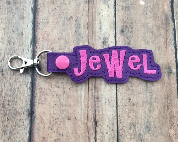 Purple Name Tag for Backpack
