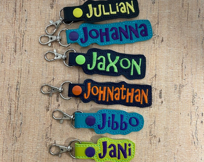 """50% OFF SALE - """"J"""" Names Bag Tag for Backpack Luggage - Ready Made - Ready to Ship"""