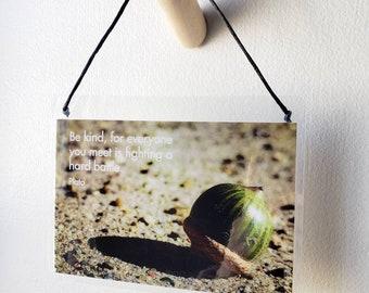 Nature Photo Inspiration Yoga Wisdom Hanging Quote Yama