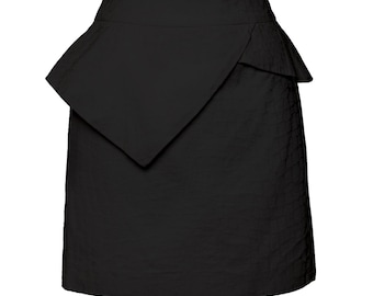 Kristina peplum skirt Black