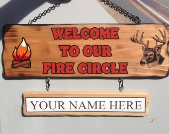 Welcome Camping Sign