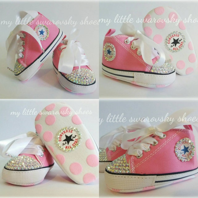 66af1aa1b2ba Swarovski Crystallized baby Shoes bling bling Baby shower