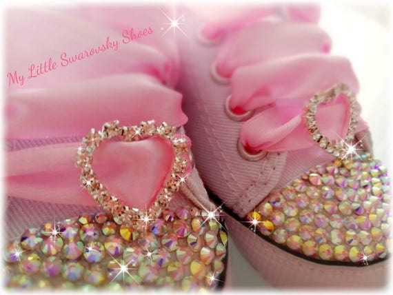 5c4a9d6392f8d strass Etsy fille Chaussures Swarovski bébé Converse diamant tBqwRFq ...