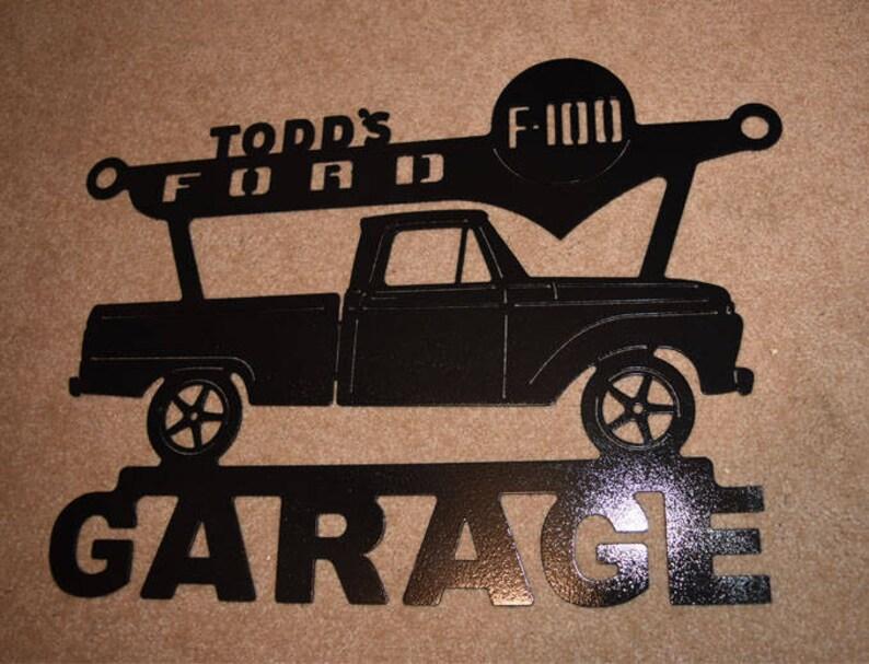 Ford Raptor Metal Garage Sign ANY Name On Top of sign Metal Garage Sign 2