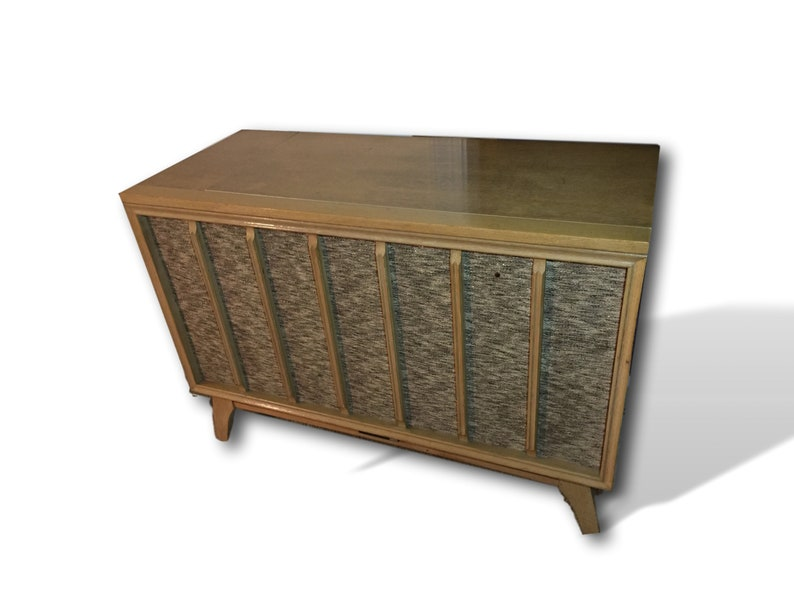 MCM Stereo Console Turntable Modified with All New High End MODERN  INTERNALS and bluetooth