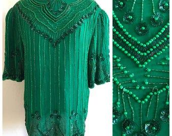 dc44cf42f35 Green sequin top