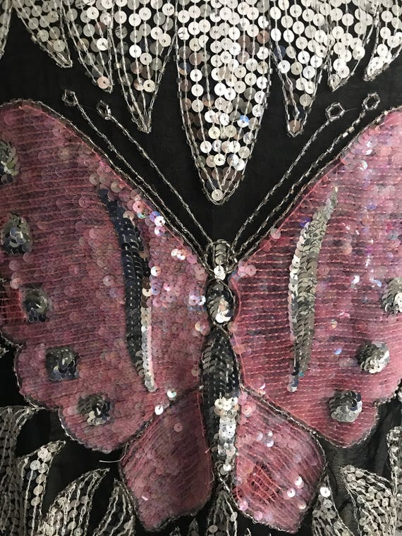 Pink Festival sequin top, butterfly top, pink but… - image 3