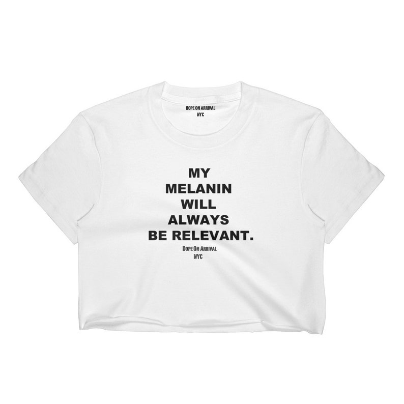 82462a30597 Melanin Relevant unixex cut Crop tee Feat. on ESSENCE / | Etsy