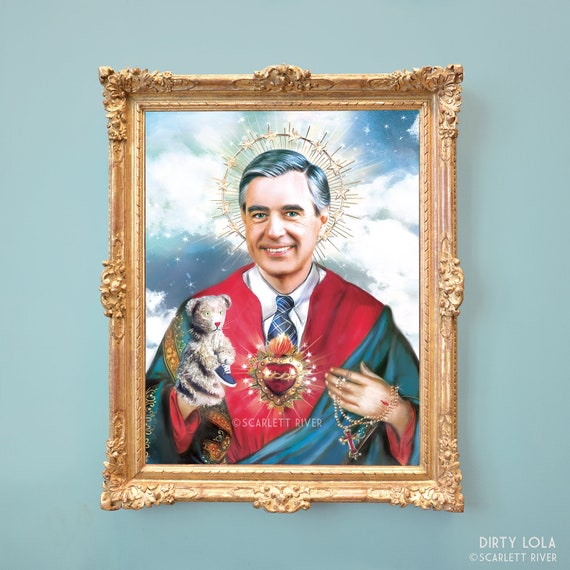 Saint Mister Rogers Fred Rogers Good Neighbor Art Etsy