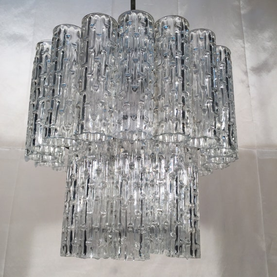 Murano Chandelier Nz: Vintage Murano Crystal Glass Tubes Chandelier